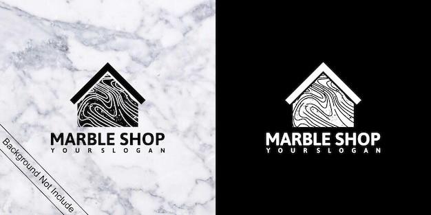 Magasin de marbre, inspiration de logo avec dessin au trait pour magasin et entreprise