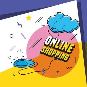 Magasiner en ligne avec un ordinateur de la souris