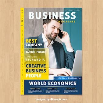 Magazine d'affaires avec image