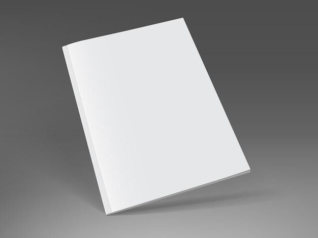 Magazine blanc sur fond sombre