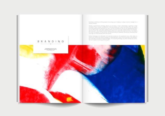 Magazine avec des idées de marque