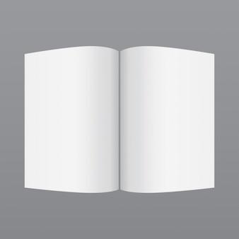 Le magazine simple maquette blanche