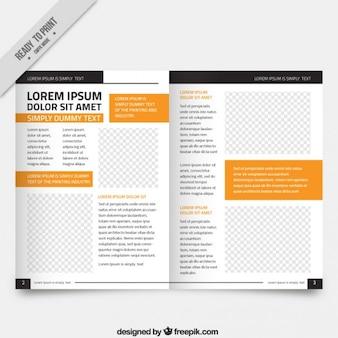 Magazines blanc pièces modèle orange