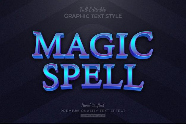 Magic spell rpg titre du jeu effet de texte premium modifiable