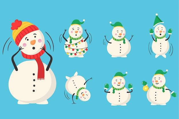 Magicien de bonhomme de neige avec des bonbons et des cadeaux activité de plein air hivernale pour les enfants hiver et noël