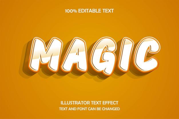 Magie, effet de texte modifiable en 3d, gaufrage moderne, style sombre