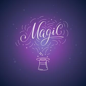 Magie de vecteur main-lettrage
