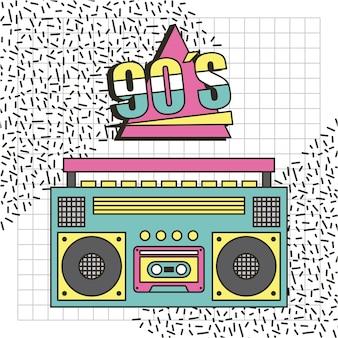 Magnétophone des années 90