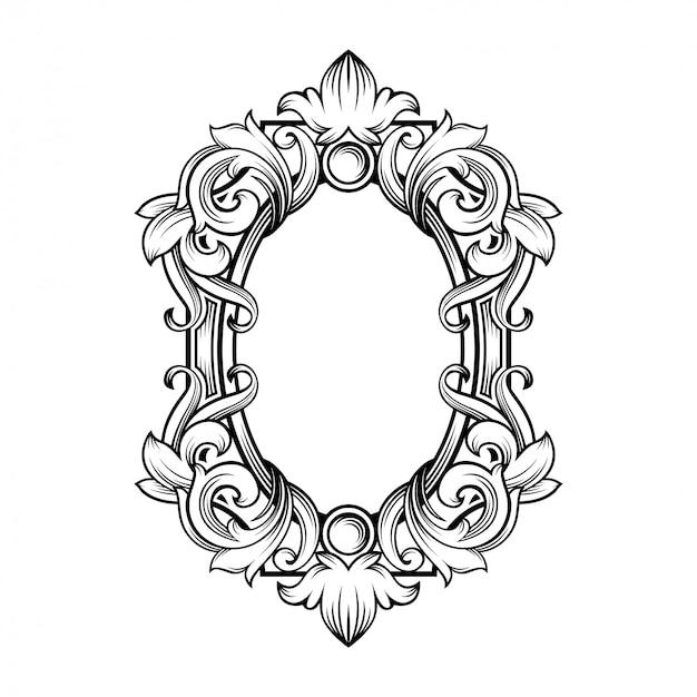 Magnifique cadre baroque avec espace vide
