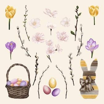 Magnifique collection avec des fleurs printanières