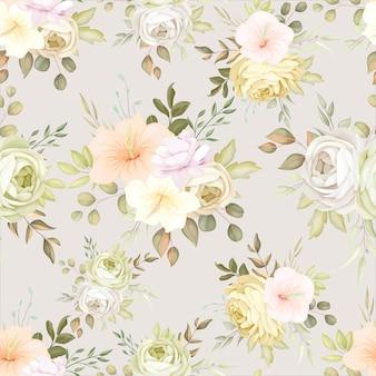 Magnifique modèle sans couture floral automne automne