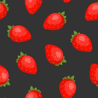 Magnifique modèle sans couture avec des fraises juteuses