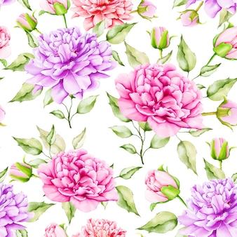 Magnifique motif sans soudure floral aquarelle