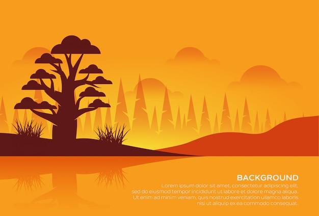Magnifique paysage coucher de soleil
