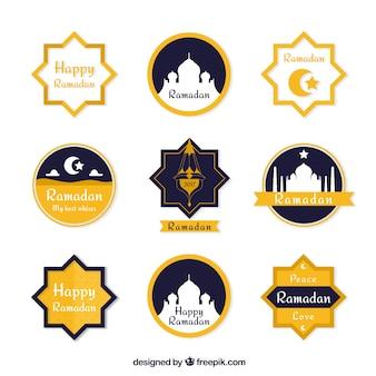 Magnifiques autocollants ensemble de ramadan