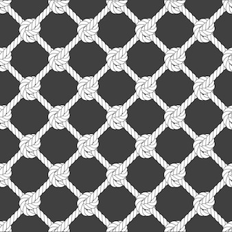 Maille de corde diagonale sans couture - motif de grille de corde