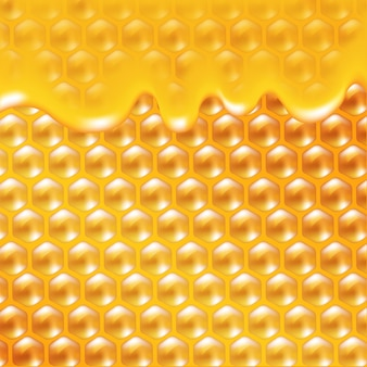 Maille de dégradé d'affiche de miel, illustration