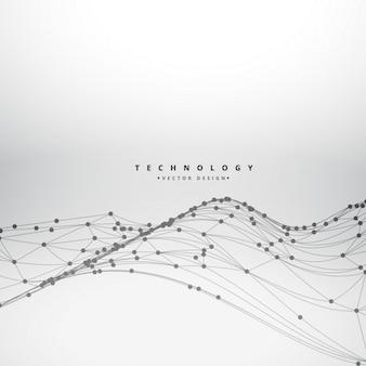 Maille fil technologie des ondes fond