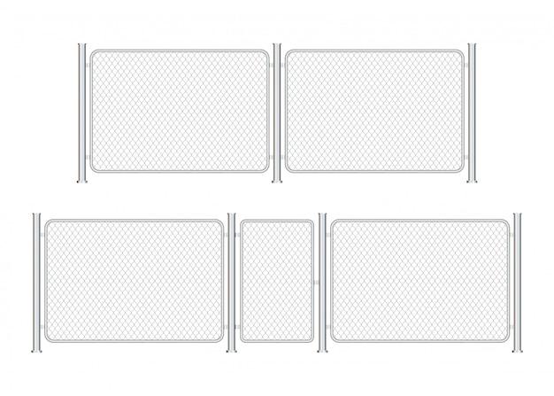 Maillon de chaîne métallique en fil de clôture. barrière de prison, propriété sécurisée