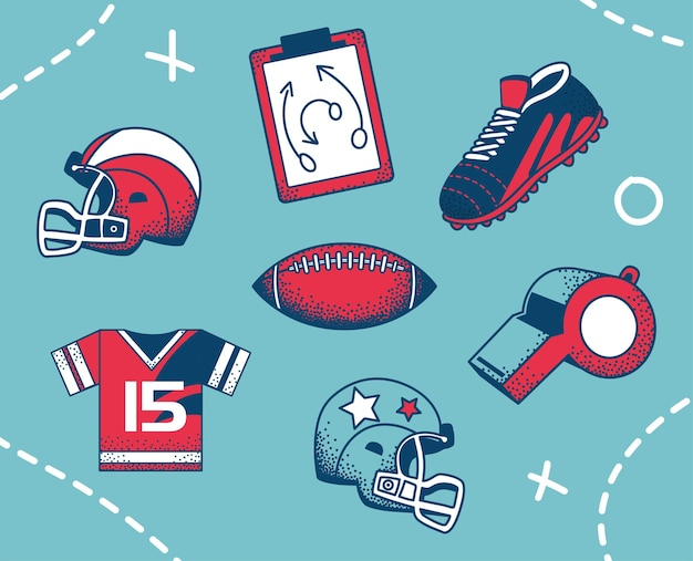 Maillot de casque de ballon de football américain