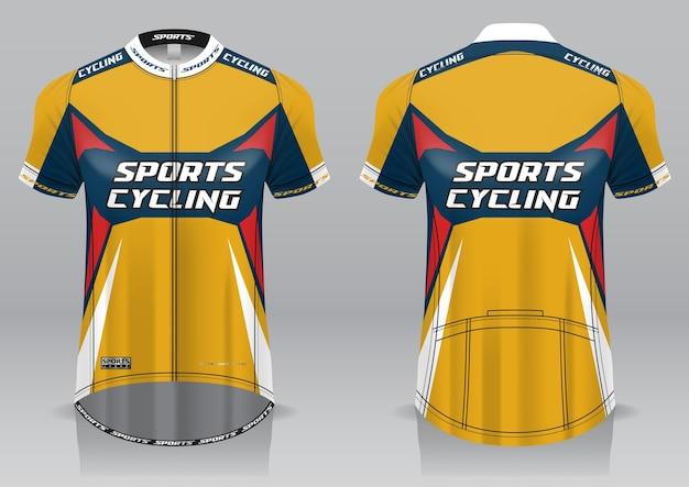 Maillot cyclisme avant et arrière design sportif