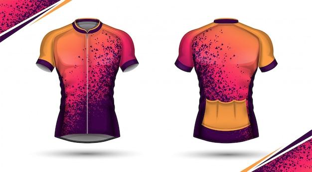 Maillot de cyclisme, avant et arrière