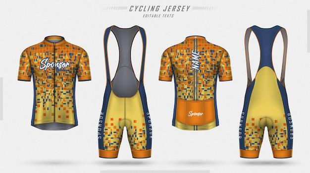Maillot de cyclisme devant et dos