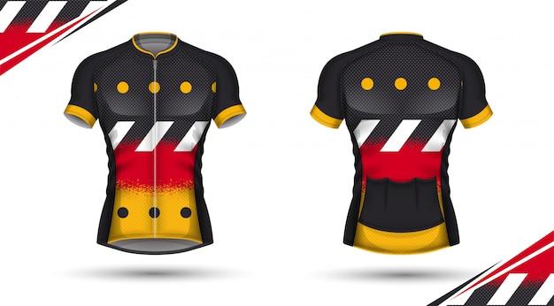 Maillot de cyclisme, devant et dos
