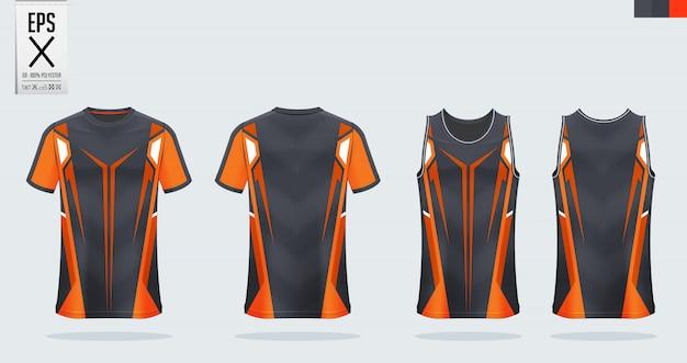 Maillot de football, kit de football, modèle d'uniforme de basket-ball.