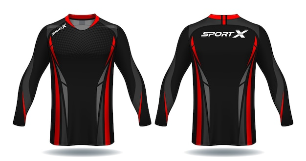 Maillot de football à manches longues template.sport.