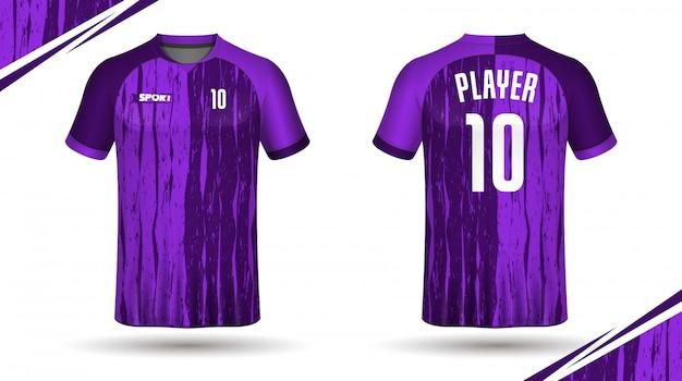 Maillot de football modèle sport t-shirt design