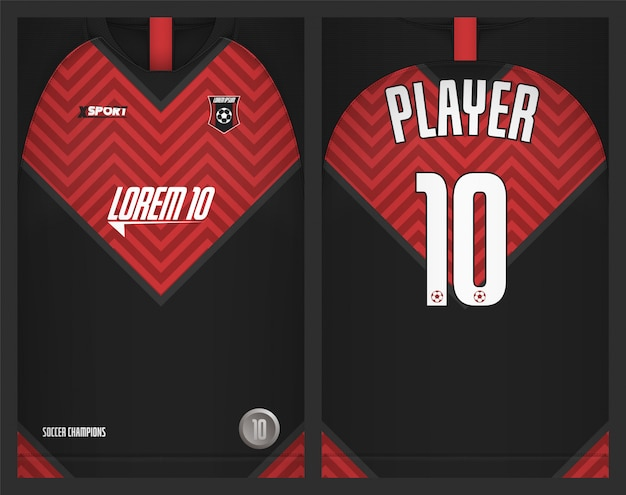 Maillot de football modèle sport tshirt design