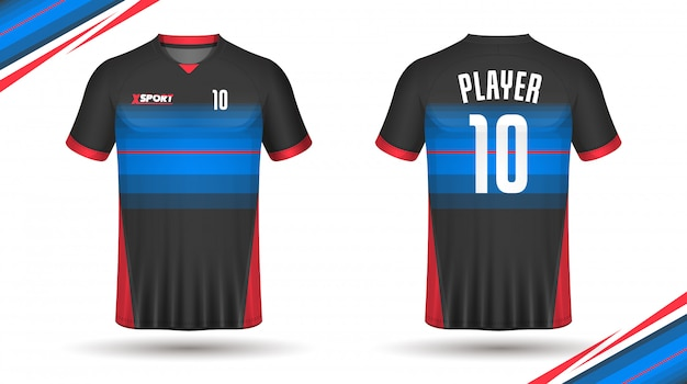 Maillot de football modèle sport tshirt