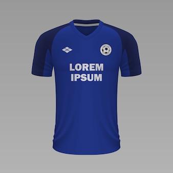 Maillot de football réaliste cruz azul, modèle de maillot pour kit de football