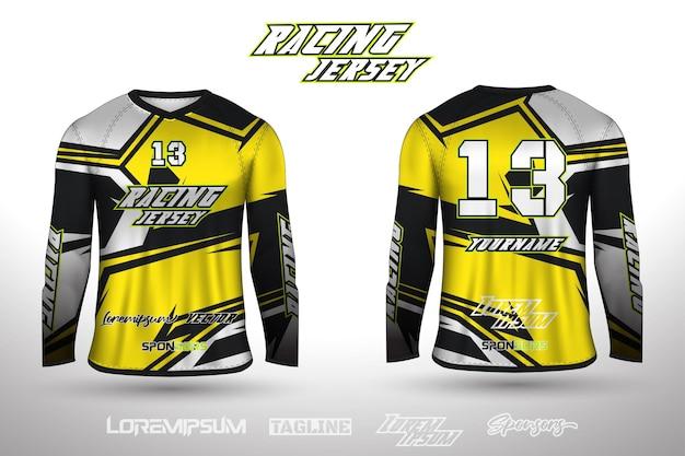 Maillot de sport design pour maillot de jeu de cyclisme de course de football vecteur premium