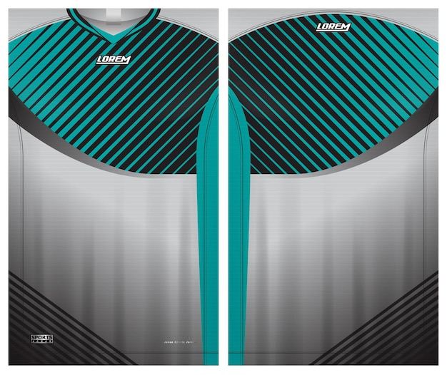 Maillot de sport, modèle de vue avant et arrière d'uniforme de football