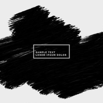 Main abstraite trait noir peint