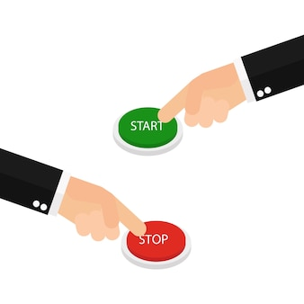 Main en appuyant sur start et stop