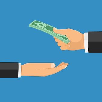 La main avec de l'argent