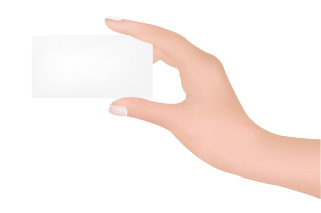 Main avec blanc
