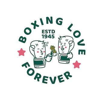 Main de boxe illustration design vintage de caractère