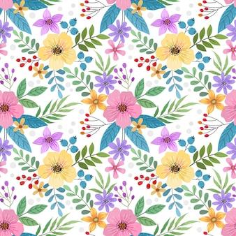 Modèle Sans Couture De Fleurs | Vecteur Premium