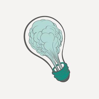 Main, dessin d'illustration du concept d'idées créatives