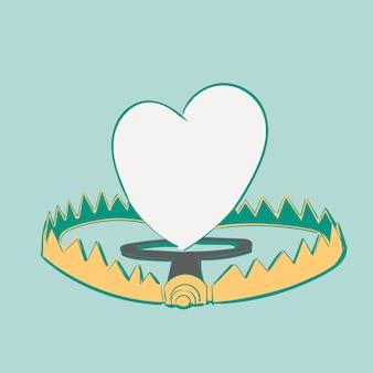Main, dessin d'illustration du concept de l'amour