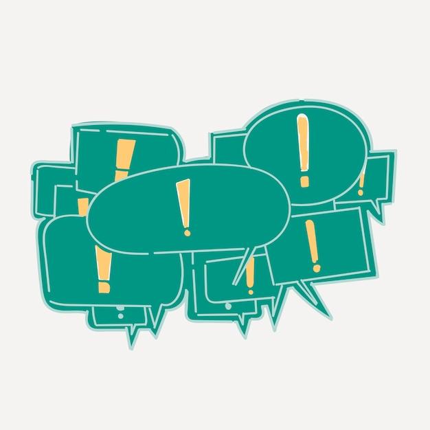 Main dessin illustration du concept de communication