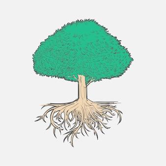 Main dessin illustration du concept de développement