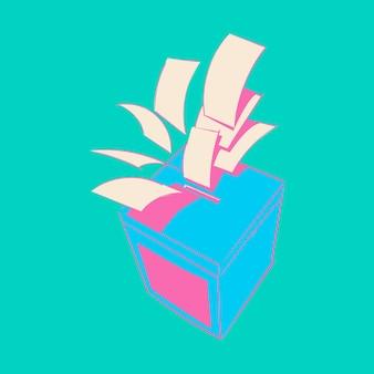 Main dessin illustration du concept de l'élection