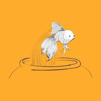 Main, dessin d'illustration du concept de leadership