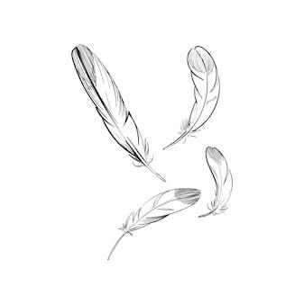 Main dessin illustration du concept de liberté