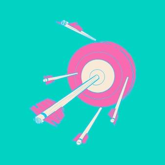 Main dessin illustration du concept réussi